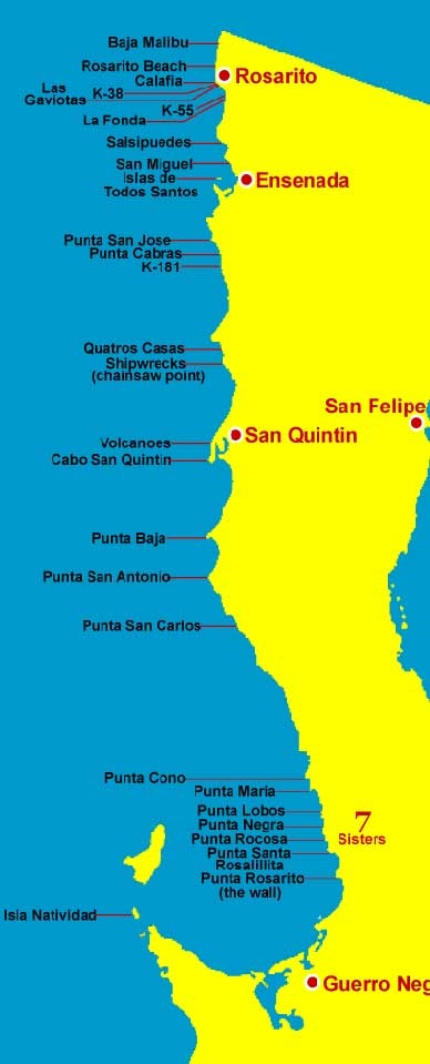 Printable Map of Maps Of Baja California