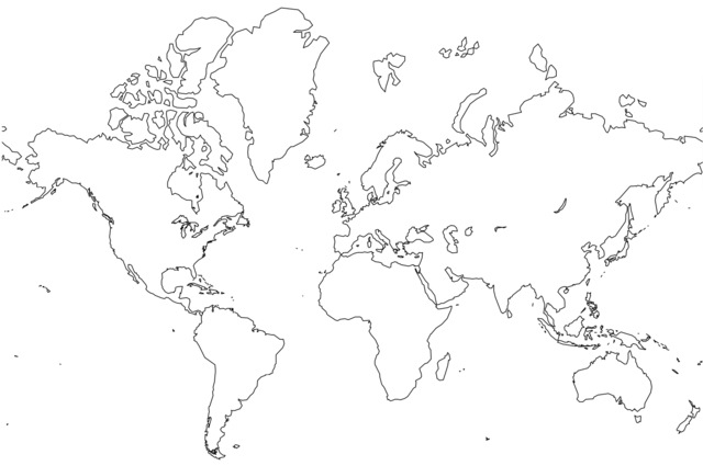 graphic regarding Printable Blank World Map known as Printable Map of No cost Printable Blank Planet Maps, Coloring