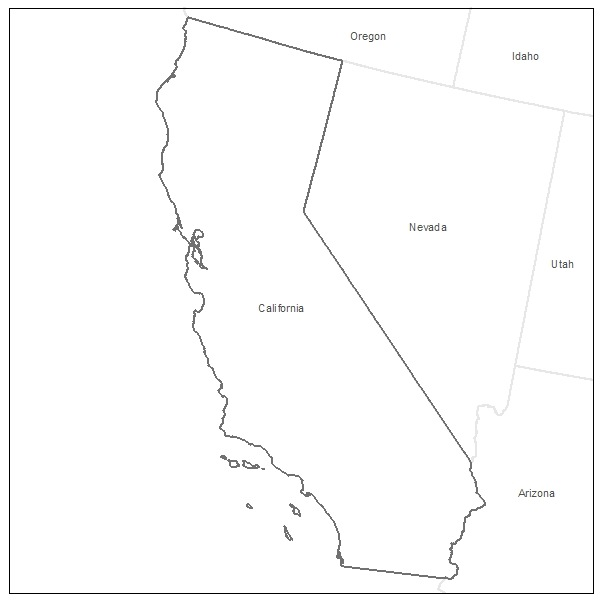 printable map of coloring map of california free