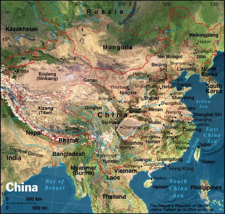 Printable Map Of Political Physical Maps Of China Political - Asia physical map