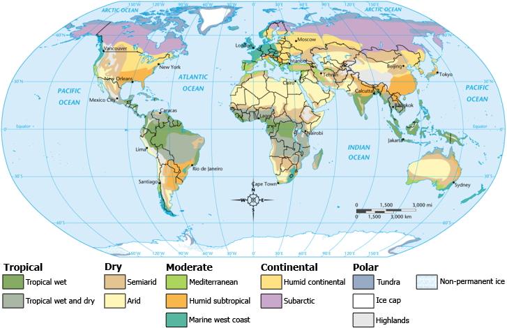 Printable Map Of Climate Maps Of The World Climate Maps Free