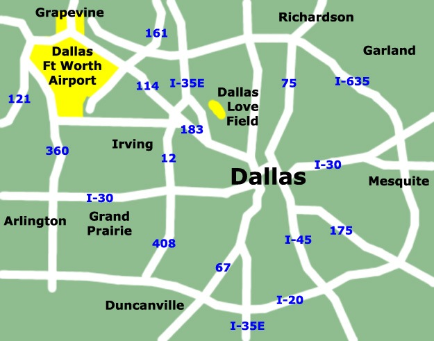 dallas-texas-airport-map