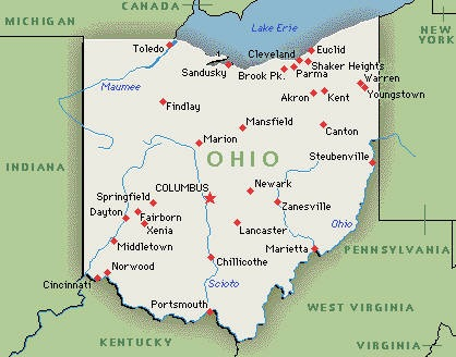 Free Ohio Map.Printable Map Of State Map Of Ohio State Map Free Printable Maps