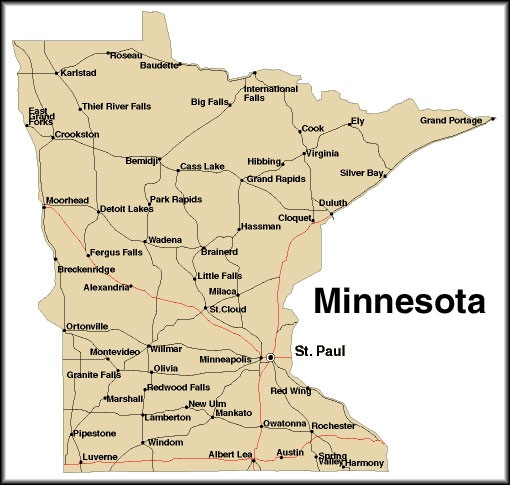 Smart image pertaining to printable map of minnesota