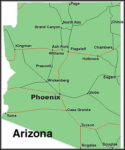 Pics Photos  Map Of Arizona Cities And Towns Printable