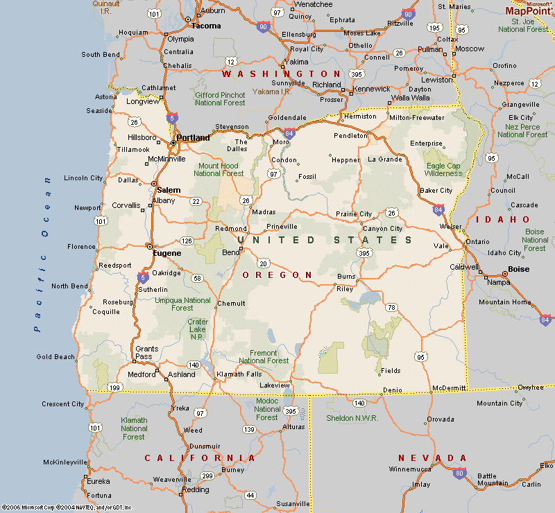 Printable Map Of Maps Of Oregon Cities Counties And Towns Free