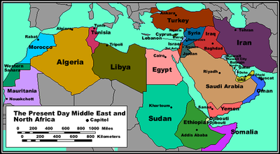 Printable Map of Political Map Of North Africa Political Maps