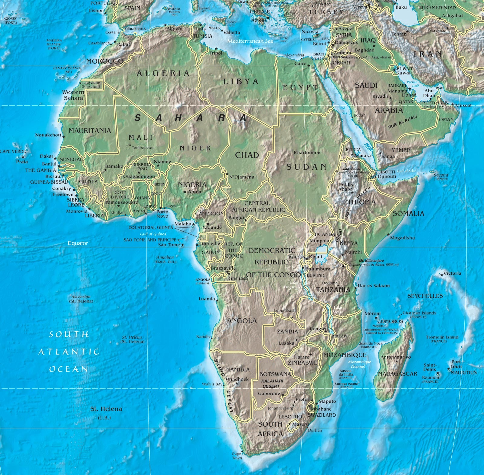 photograph about Free Printable Map of Africa named Printable Map of Africa Actual physical Maps No cost Printable Maps