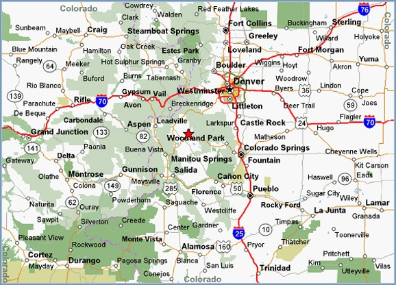 Printable Map Of Highway Map Of Colorado Highway Map Free - Maps of colorado cities
