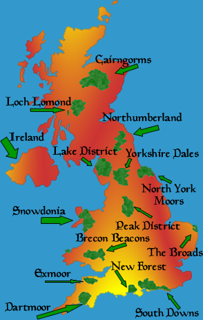 printable map of maps of united kingdom national parks