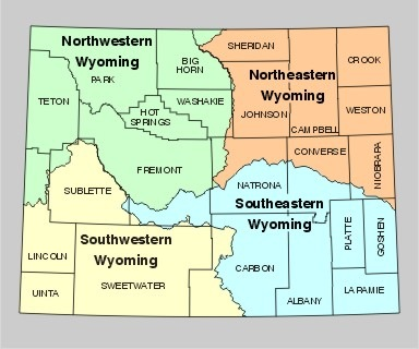 Printable Map Of State Map Of Wyoming State Map Free