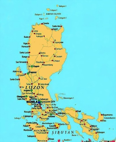 Map Of The Philippines Luzon Printable Map of City Map Philippines Luzon, Maps – Free Printable